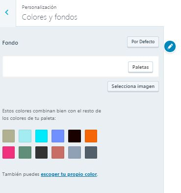 8 colores y fondos