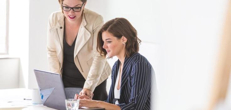 business women working