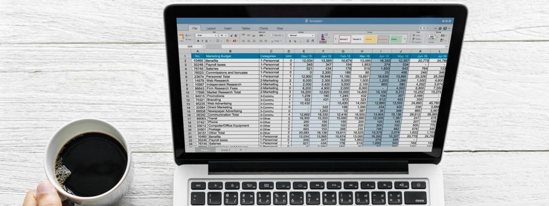 presupuesto en pantalla ordenador
